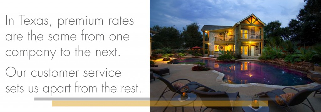 In Texas, premium rates are the same from one title company to the next.